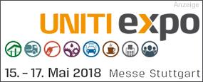 UNITI expo - 15.-17. Mai 2018 | Messe Stuttgart