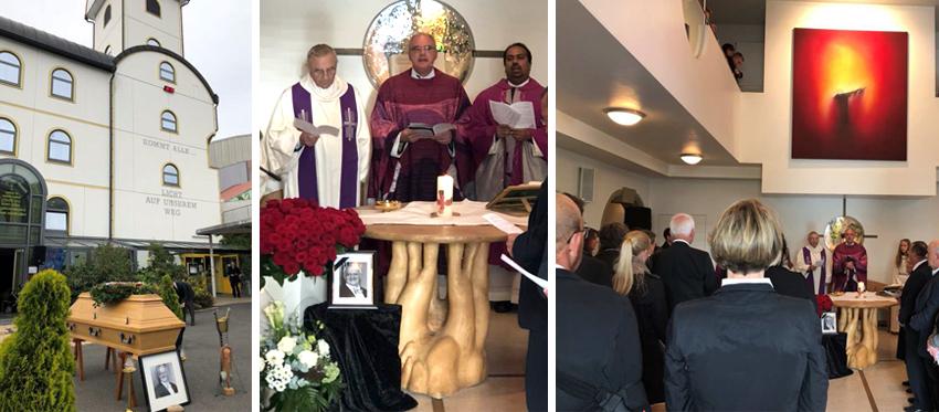 Die Trauermesse fand in der eigenen Autobahnkirche Geiselwind statt